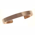 Bangle, copper, smooth