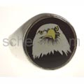 Seal ring eagle\'s head, round